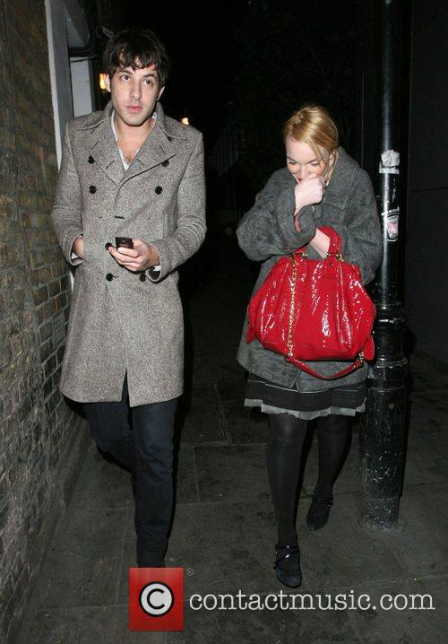 Mark Ronson and A Mystery Woman Looking Rather Worse For Wear Leaving Bungalow 8 Nightclub. 8