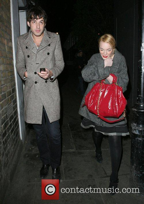 Mark Ronson and A Mystery Woman Looking Rather Worse For Wear Leaving Bungalow 8 Nightclub. 7