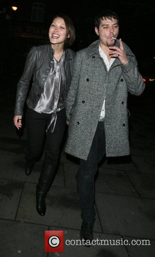 Matt Willis and girlfriend Emma Griffiths leaving Bungalow8...