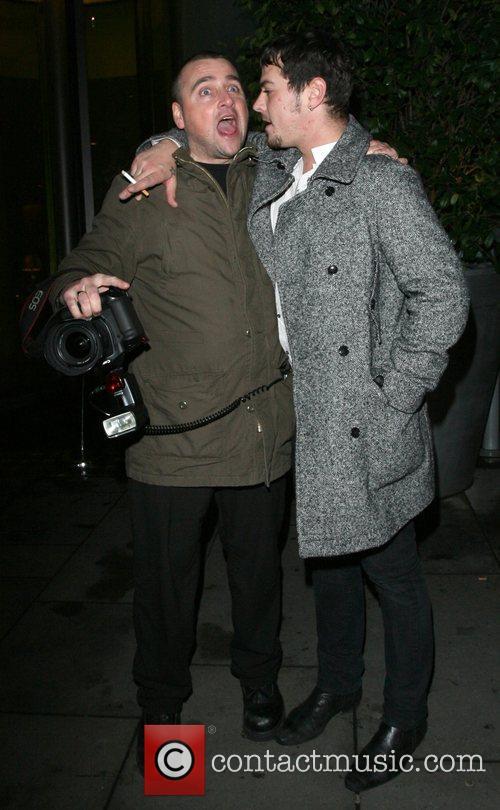 Matt Willis leaving Bungalow8 nightclub rather worse for...