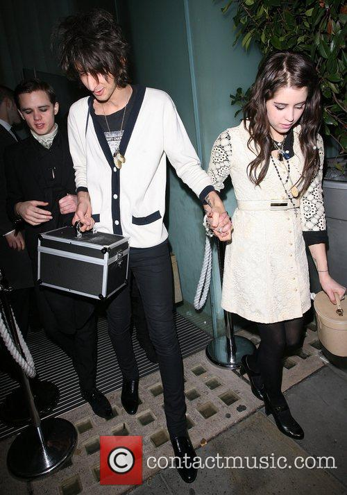 Farris Rotter and his girlfriend Peaches Geldof leaving...