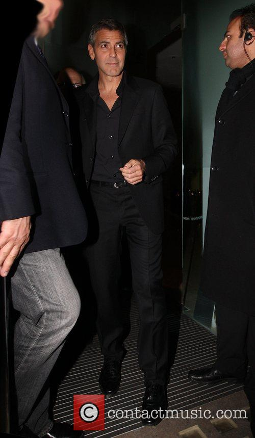 George Clooney leaving Bungalow 8 where he went...