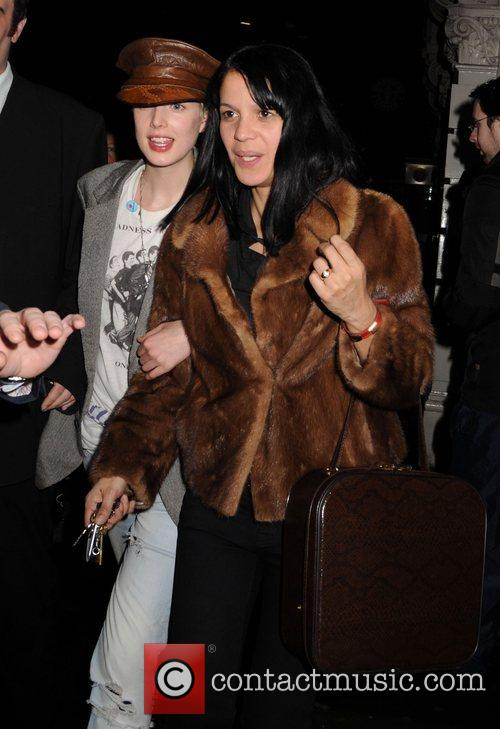 Agyness Deyn and Lisa Moorish leaving Bungalow 8...