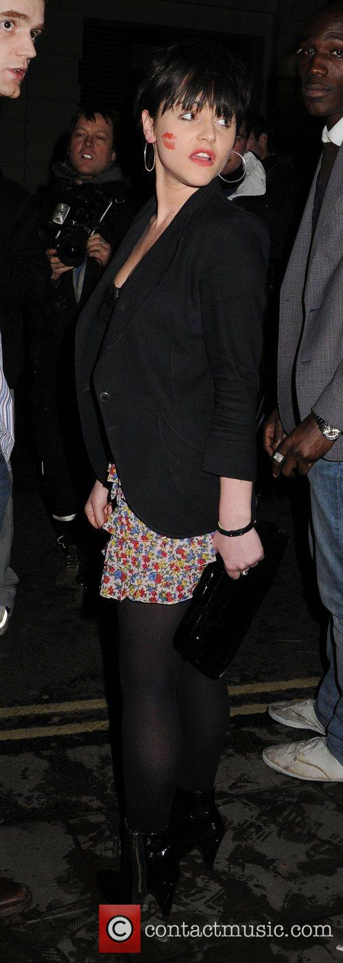 Jaime Winstone leaving Bungalow 8 nightclub with a...