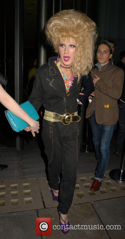 Jodie Harsh leaving Bungalow 8 nightclub  London,...