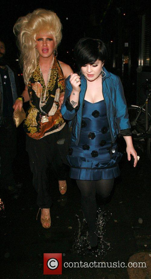 Kelly Osbourne arrives at the Bungalow club with...