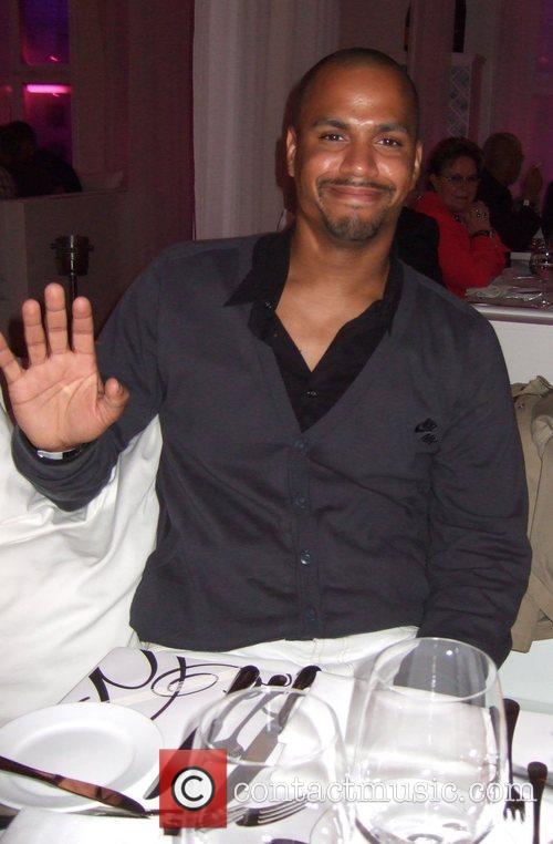 Patrice Bouedibela dinning at the Bungaluu Club Berlin,...