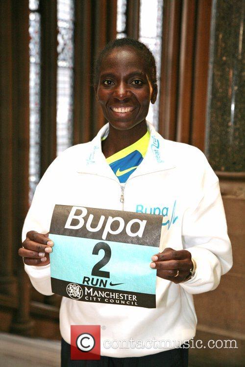 Catherine Ndereba BUPA great run press conference Manchester,...