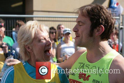 Denise Welch with Jason Merrells BUPA 10K run...
