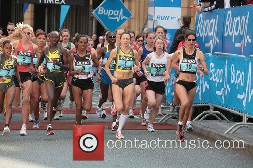 Jo Pavey BUPA 10K run Manchester, England