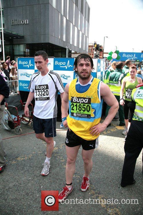Kelvin Fletcher BUPA 10K run Manchester, England