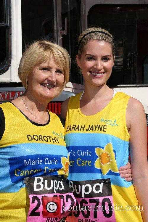 Sarah Jayne Dunn with her mother BUPA 10K...