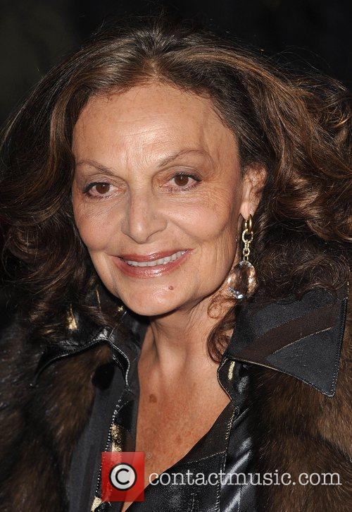 Diane Von Furstenberg Vanity Fair Portrats opening night...