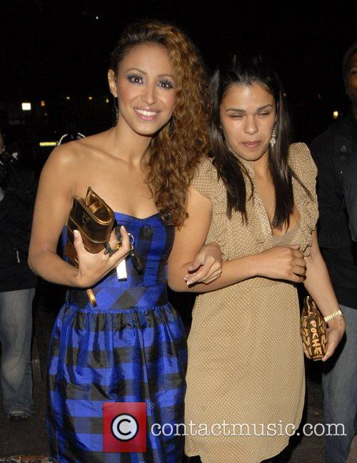 Amelle Berrabah of Sugarbabes and Guest attending Kimberly...
