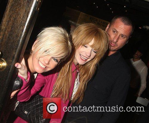 Sarah Harding, Nicola Roberts and Nicola's boyfriend At...