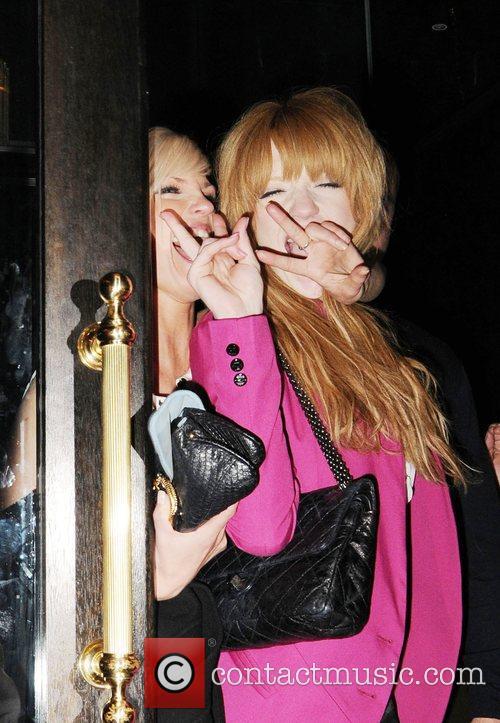 Sarah Harding and Nicola Roberts leaving Kimberly's sister...