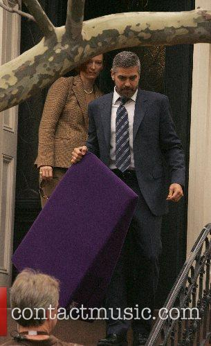 Tilda Swinton and George Clooney 1