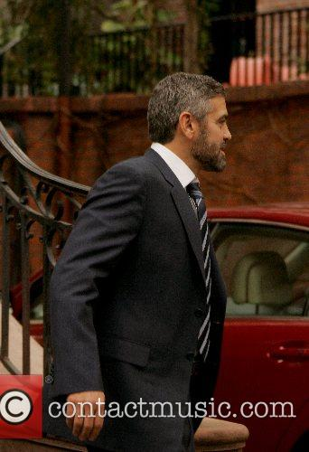 George Clooney on the set of his new...