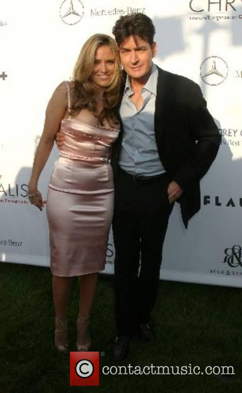 Charlie Sheen and Guest 2007 Chrysalis Butterfly Ball...