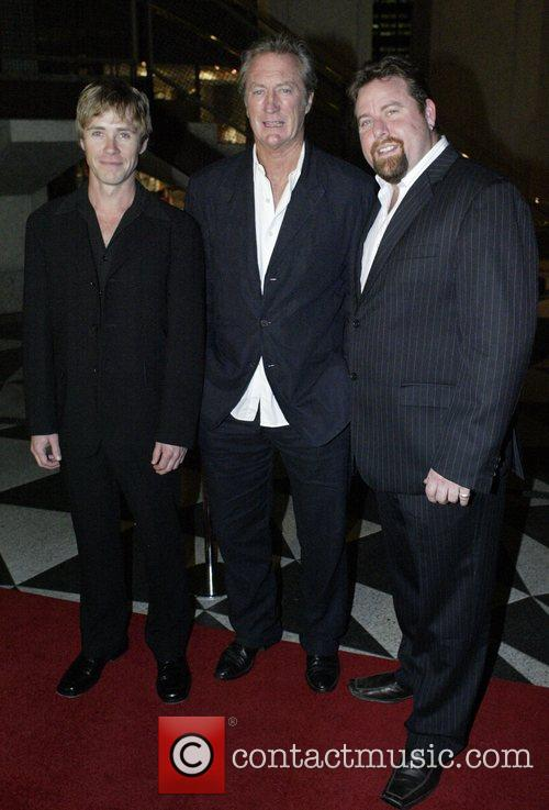 From left: Travis McMahon, Bryan Brown, Shane Jacobson...