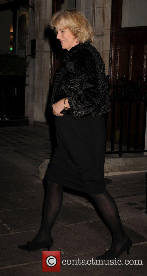 Camilla, Duchess of Cornwall leaving Scotts Restaurant in...