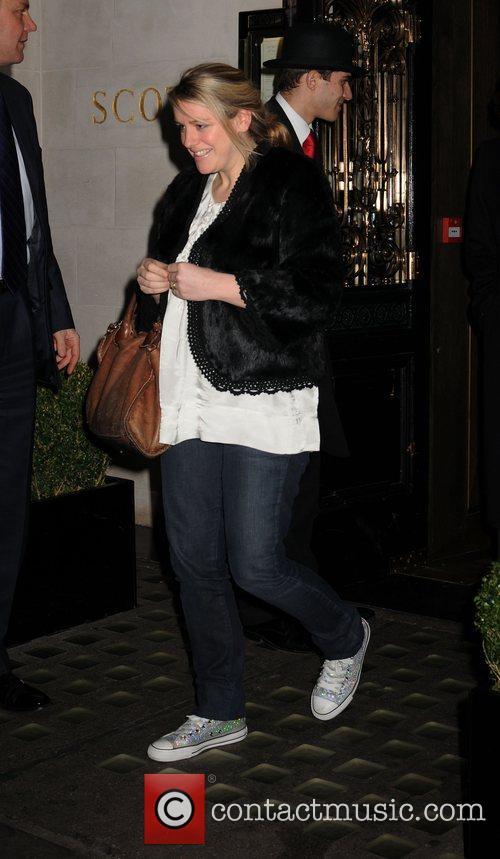 Laura Parker Bowles leaving Scotts Restaurant in Mayfair