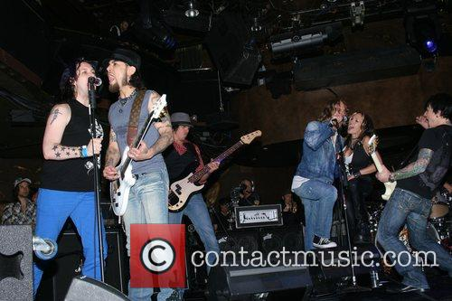 Steve Isaacs and Dave Navarro Camp Freddy performs...