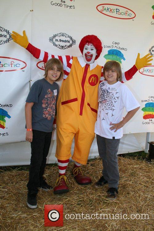 Cole Sprouse, Ronald McDonald and Dylan Sprouse The...