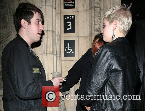 Nick Grimshaw and Pixie Geldof, outside the Royal...