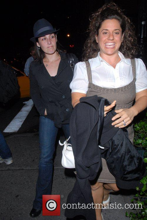 Celebrities enjoying an evening out in Greenwich Village