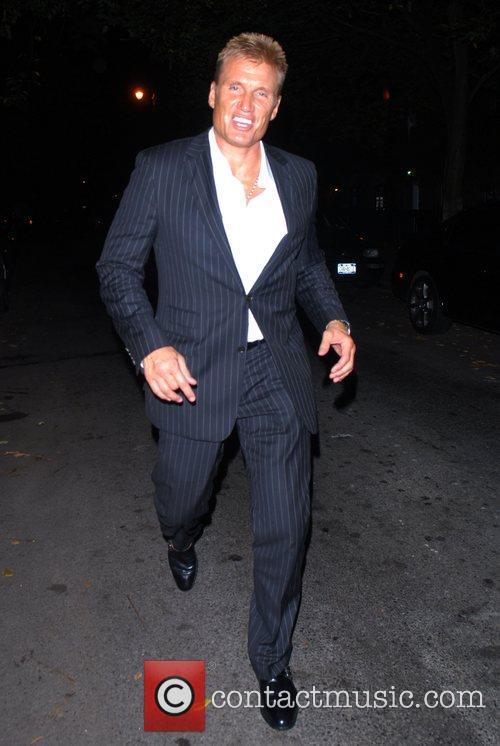 Dolph Lundgren celebrities enjoying an evening out in...