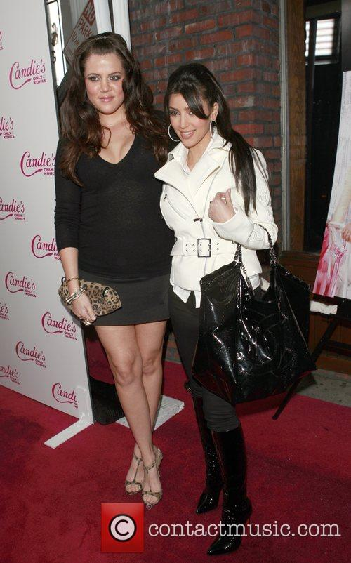 Khloe Kardashian and Kim Kardashian Candies Campaign Party...