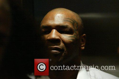 Mike Tyson out and about during day 4...