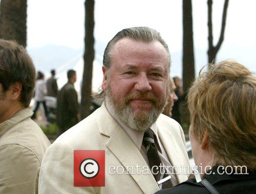 Ray Winstone walks along the Croisette during day...