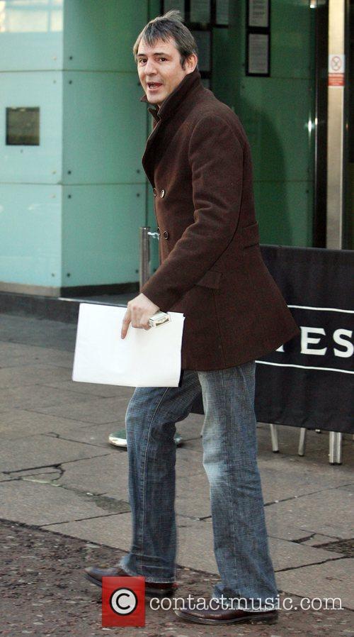Neil Morrisey leaving the Capital FM studios