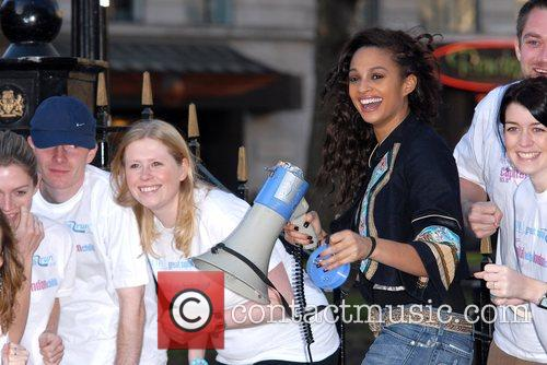 Alesha Dixon BUPA Great Capital Run - launch...