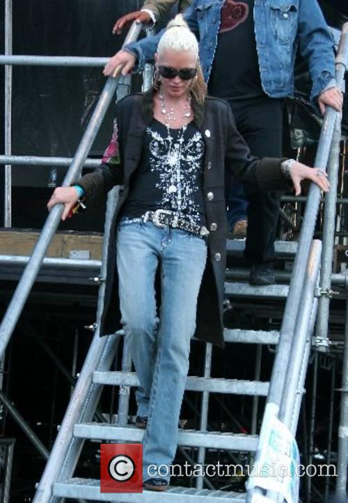 Caprice backstage on Day 2 of the O2...