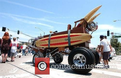 George Barris displays some of his creations