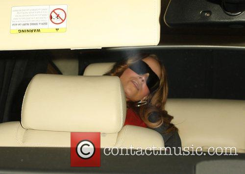 Mariah Carey leaving Gyu-Kaku restaurant Beverly Hills, California