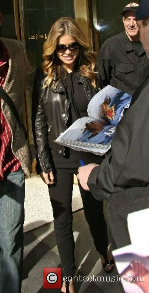 Carmen Electra leaving CW 11 TV studio New...