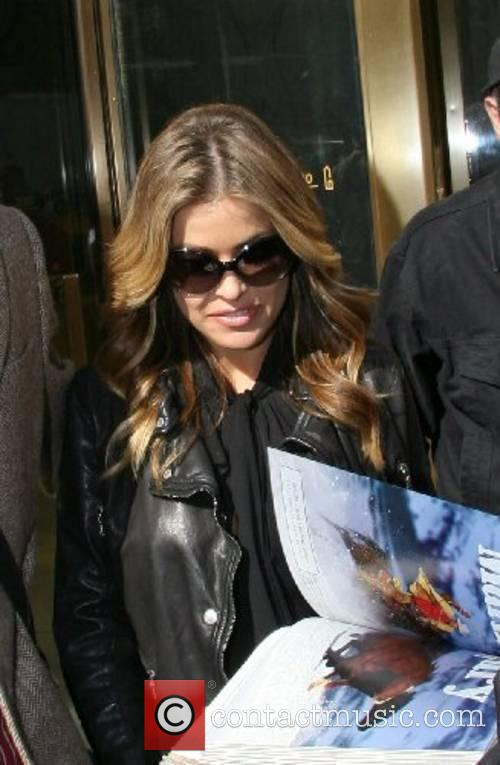 Carmen Electra leaving CW 11 TV studio