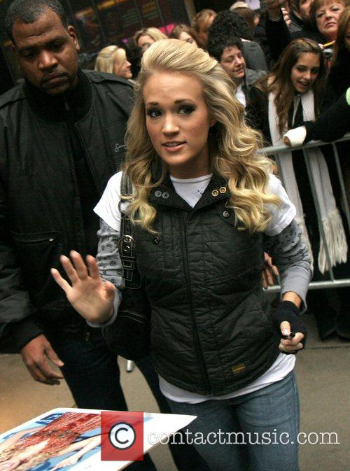 Leaving ABC Studios after her appearance on 'Good...
