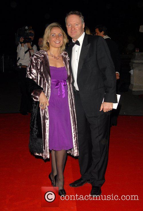 Rory Bremner (r) and guest Cartier dinner to...