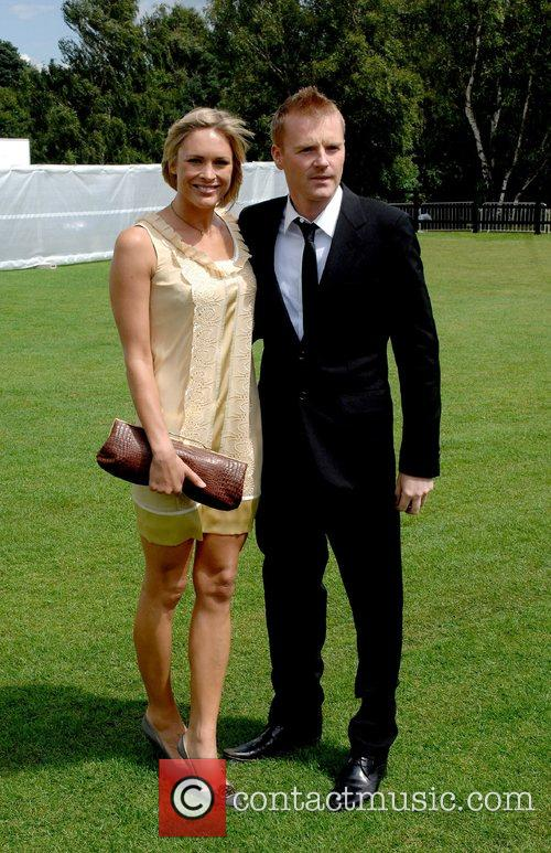 Jenny Falconer and guest Cartier International Polo Guards...