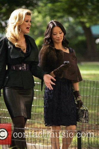 Bonnie Somerville and Lucy Liu 7