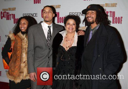 Debbie Allen and Family At The Arrivals For The Opening Night Performance Of Cat On A Hot Tin Roof At The Broadhurst Theatre. 6