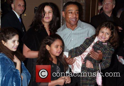 Giancarlo Esposito and Family At The Arrivals For The Opening Night Performance Of Cat On A Hot Tin Roof At The Broadhurst Theatre. 4