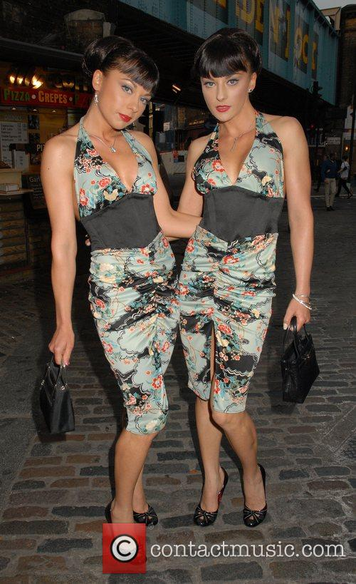 Cheeky Girls arriving at the 'Caudwell Children Legends...
