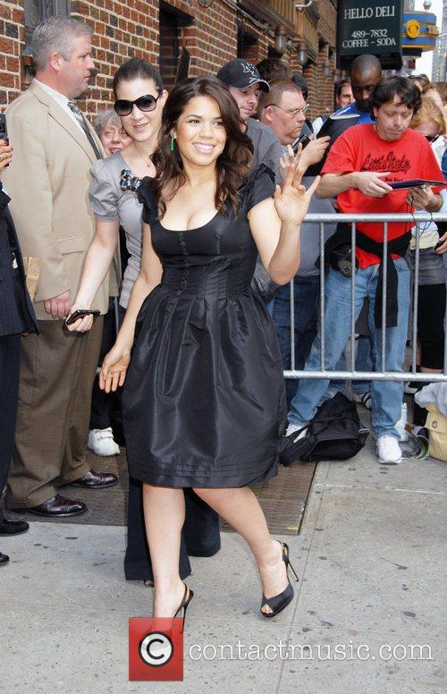 America Ferrera and David Letterman 13
