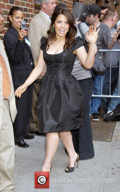 America Ferrera and David Letterman 14